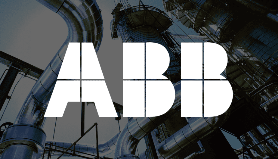 ABB-White-Logo with refinery background