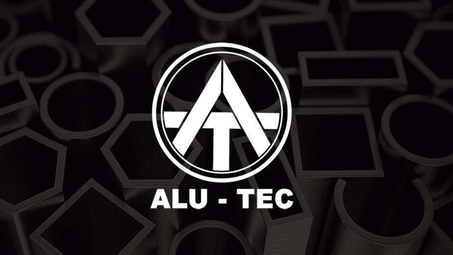ALUTEC-White-Logo with Aluminum Background