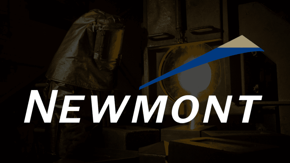 gold pour vevada background, Newmont Mining White Logo.png