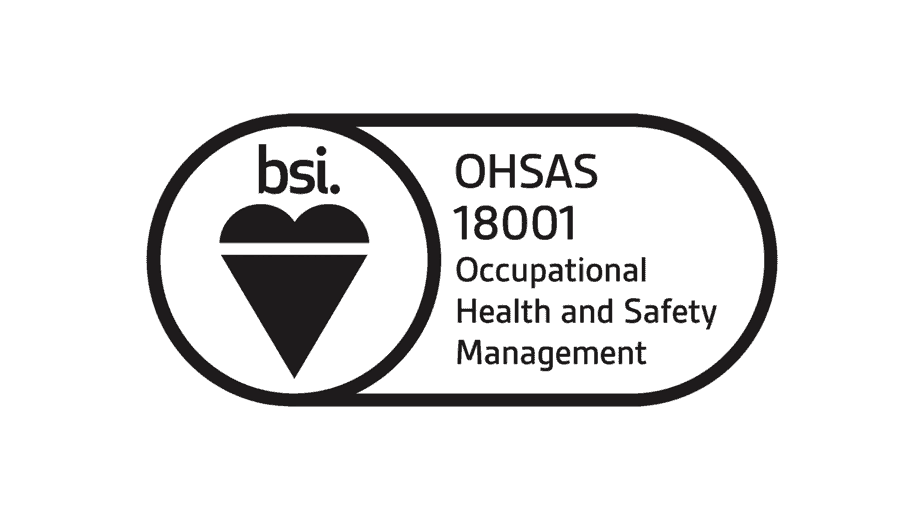 BSI logo, OHSAS 18001 Occupational Health and Safety Management