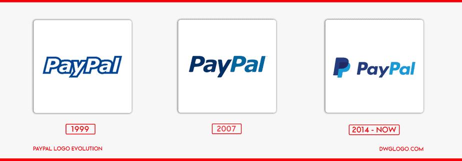 paypal logo evolution