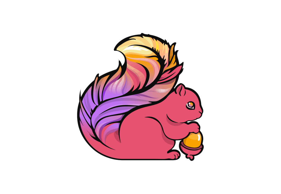 Apache Flink logo, squirrel