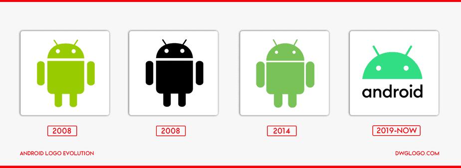 android logo evolution