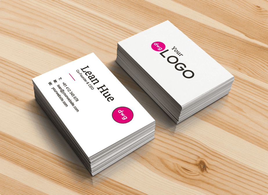 Realistic Business Card Free Mock-Up